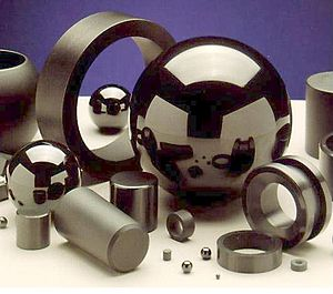 Ceramic - A selection of silicon nitride components.