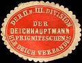 Siegelmarke Der Deichhauptmann Prignitzschen Elbdeich Verbandes der II. und III. Division W0204865.jpg