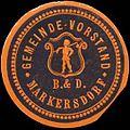 Siegelmarke Gemeinde-Vorstand Markersdorf W0321161.jpg