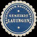 Siegelmarke Gemeinde Lauingen H. Braunschweig W0382765.jpg