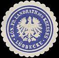 Siegelmarke K.Pr. Landrath des Kreises Lübbecke W0363435.jpg