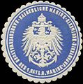 Siegelmarke K. Marine Kassenverwaltung des 1. Batals. Marine-Infanterie-Regiments W0363945.jpg
