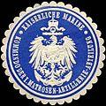 Siegelmarke Kaiserliche Marine - Kommando der I. Matrosen - Artillerie - Abteilung W0219608.jpg