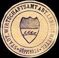Siegelmarke Stadt. Wirtschaftsamt Abteilung Lebensmittel - Göppingen W0205572.jpg