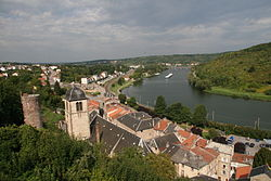 Sierck les Bains Lorraine France 06 west town and church.jpg