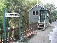 Signal box, Abergynolwyn - geograph.org.uk - 1415286.jpg