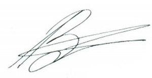 Alexander Zakharchenko - Image: Signature of Aleksandr Zakharchenko