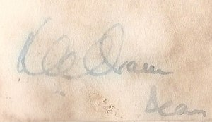 Kenneth Oram - Image: Signature of Kenneth Cyril Oram