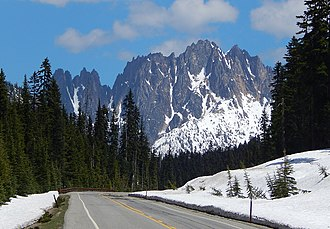 Washington State Route 20 - North Cascades Highway approaching Silver Star Mountain