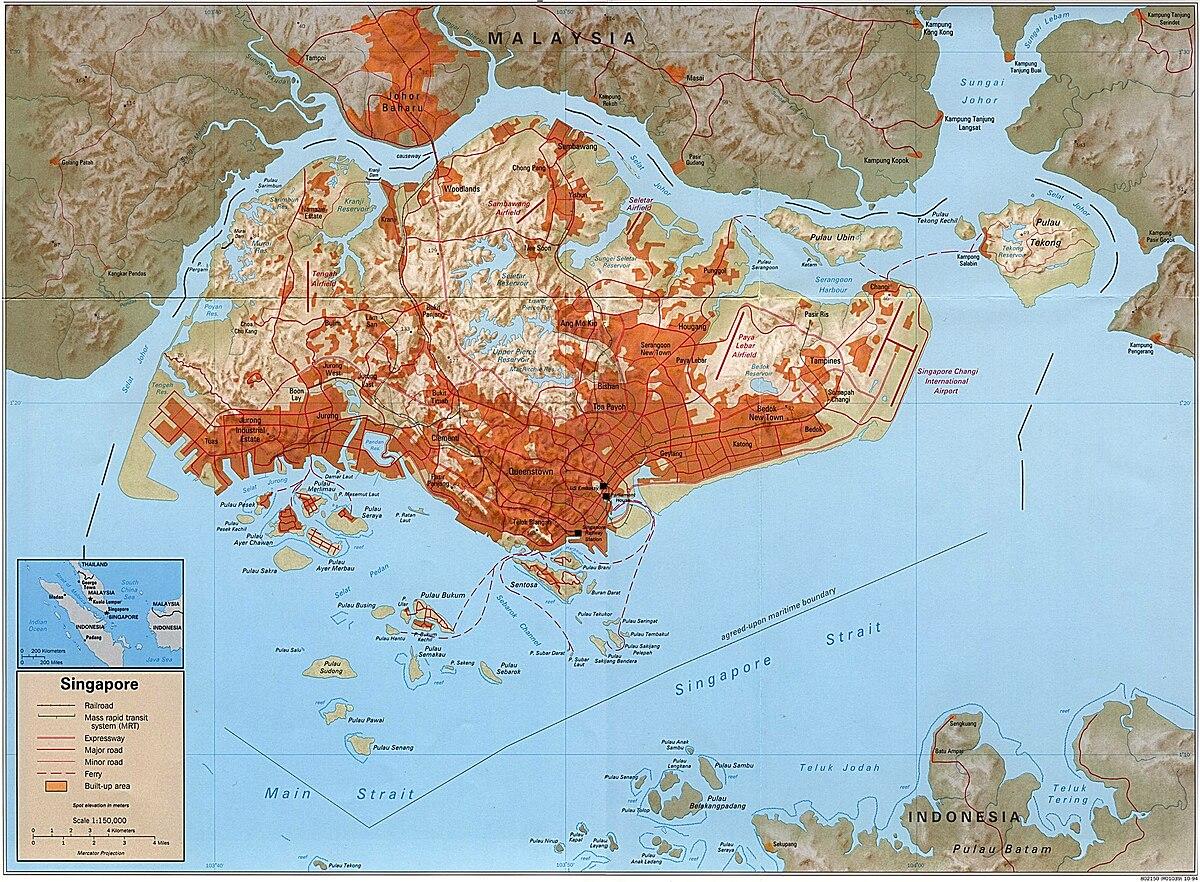 Singaporen Maantiede Wikipedia