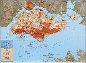 Pulau Ujong - A map of Pulau Ujong
