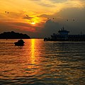 Singapore Cruise Centre seen from the Sentosa Boardwalk at sunset - 20110306.jpg