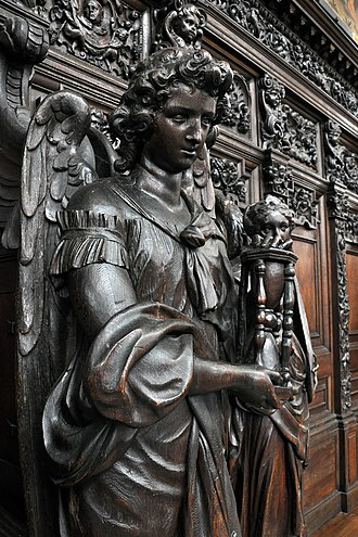 St. Paul's Church, Antwerp - Detail of a confessional