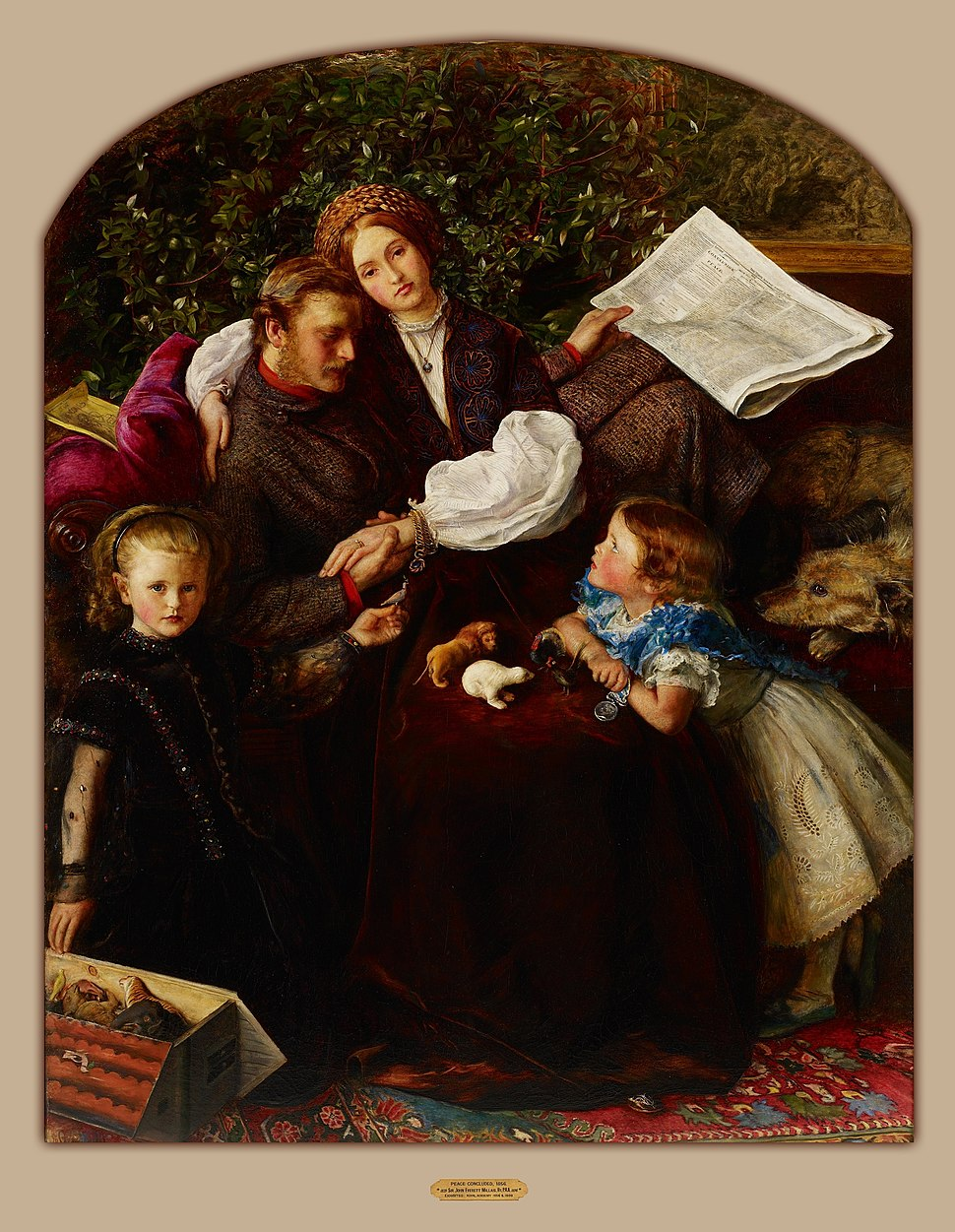 Sir John Everett Millais - Peace Concluded - Google Art Project