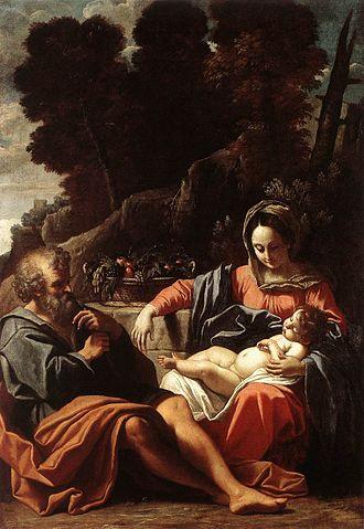 Sisto Badalocchio - Image: Sisto Badalocchio The Holy Family WGA01141