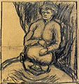 Sitting Woman with Enourmous Male Head by Theo van Doesburg AB4200.jpg
