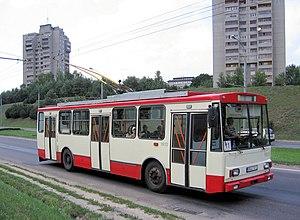 Trolleybuses in Vilnius - Škoda 14Tr trolleybus