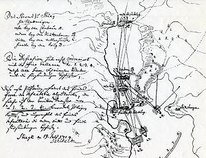 Slaget vid Stäket von Dahlheims karta 1719.jpg