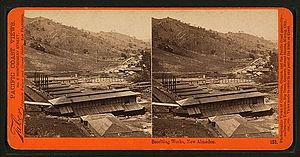 Carleton Watkins - Smelting Works, New Almaden, by Watkins