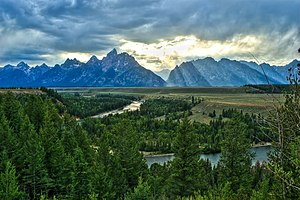 Teton County, Wyoming - Snake River Overlook and the Teton Range, Teton County