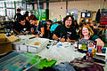 Solder workshop at FIXME Hackerspace, Renens, Lausanne (2015-05-23 06.25.21 by Mitch Altman).jpg