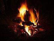 Solstice fire in Montana