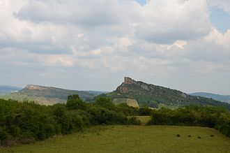 Rock of Solutré - The Rock of Solutré (right) and the Rock of Vergisson (left)