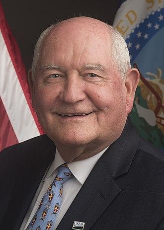 United States Secretary of Agriculture - Image: Sonny Perdue headshot