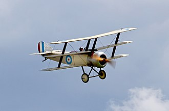 Triplane - Sopwith Triplane in flight (2014)