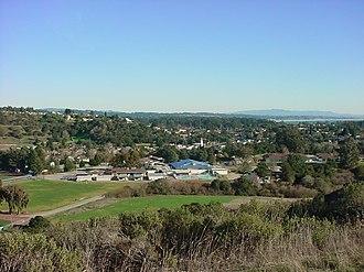 Soquel, California - Soquel as seen from a hilltop in Anna Jean Cummings Park