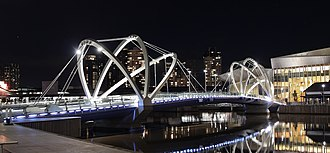 South Wharf, Victoria - Image: South Wharf Foot Bridge