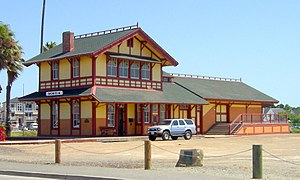 Benicia, California - 1902 SPRR rail ferry depot in Benicia