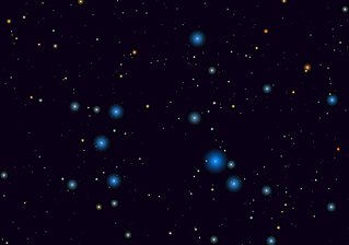 IC 2602 open cluster in the constellation Carina