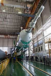 Soyuz TMA-09M rocket in the assembling facility 4.jpg