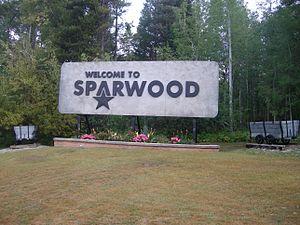 Sparwood - Sparwood's welcome sign