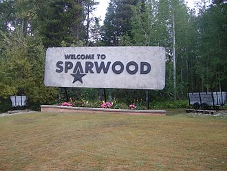 Sparwood - Sparwood's welcome sign