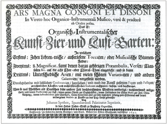 Johann Speth - The title page of the original edition of Speth's Ars Magna.