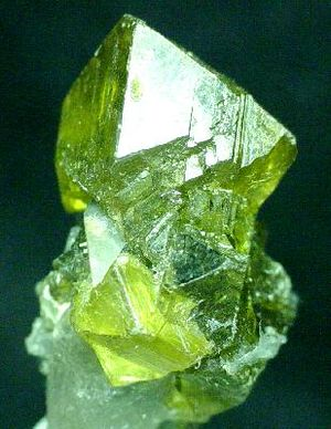 Edwards, New York - Gemmy sphalerite crystal from the Balmat-Edwards Zinc District. Size 2.75 x 1.75 x 1.5 cm.