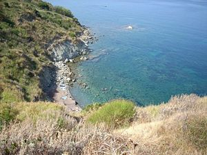 Cilentan Coast - The little beach of San Francesco, south of Agropoli