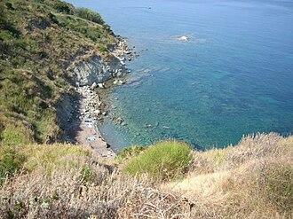 Cilentan Coast - The little beach of San Francesco, south of Agropoli