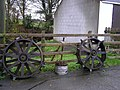 Spiked wheels, Cavanacaw - geograph.org.uk - 1050035.jpg