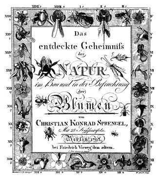 Christian Konrad Sprengel - Cover page of Sprengel's landmark book (1793)