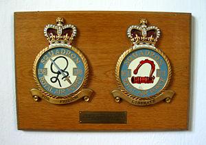 No. 161 Squadron RAF - No. 161 Squadron insignia at right