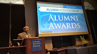 Sreenath Sreenivasan - Sree Sreenivasan giving address at 2016 Columbia Journalism Alumni Awards