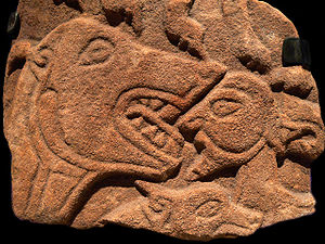 Scotland in the Early Middle Ages - The so-called Daniel Stone, Pictish cross slab fragment found at Rosemarkie, Easter Ross
