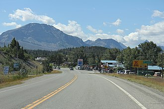 St. Mary, Montana - Image: St. Mary Montana Sign Looking South US89