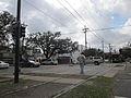 St Charles Ave Louisiana Uptown NOLA Jan 2012 Streetcar Stop.JPG