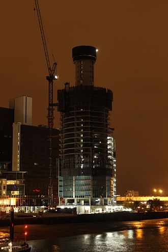 St George Wharf Tower - Image: St George Wharf Tower under construction Nov 6 2011