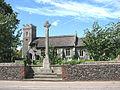 St Margaret's church and war memorial - geograph.org.uk - 855776.jpg