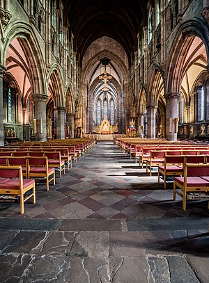 St Mary's Cathedral, Edinburgh (Episcopal) - Interior of the Cathedral, looking towards the High Altar